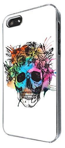 620 - Floral Sugar Skull Roses Head Design iphone 4 4S Coque Fashion Trend Case Coque Protection Cover plastique et métal