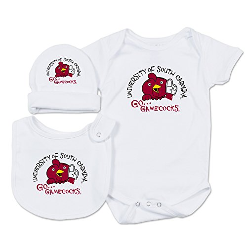White South Carolina Sweatshirt - NCAA South Carolina Fighting Gamecocks Baby Essential Set, 0-3 Months, White