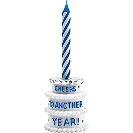 The Party Continuous Adult Birthday Cheers To Another Year Beer Bottle Candle Holder Blue