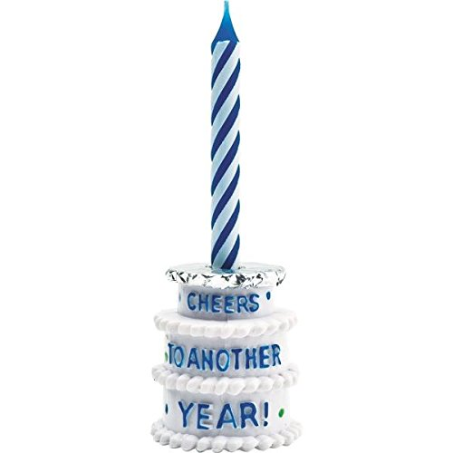 Amscan 170555 The Continues Adult Birthday Party Cheers to Another Year Beer Bottle Candle Holder, 1 Piece, - Years Bottle