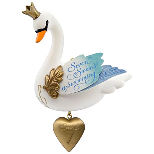 Hallmark Keepsake 2017 Seven Swans-a-Swimming Twelve Days of Christmas  Ornament