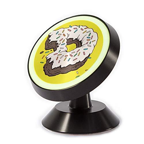 Car Phone Mount Holder D Letter Donut 360° Rotation Magnetic Car Phone Holder Universal with Super Strong Magnet ()