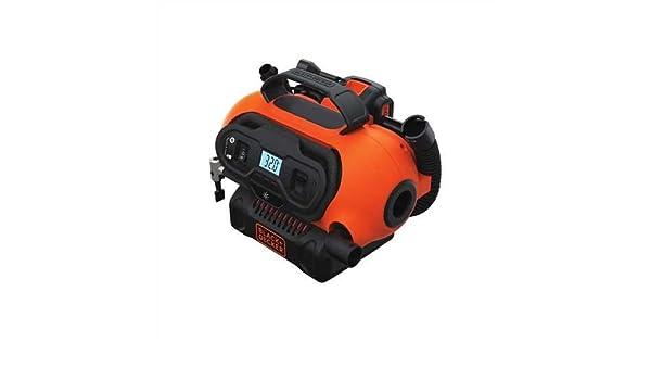 Negro + Decker Multiusos inflador bdinf20 C 20 V Max sistema & 3 fuentes de alimentación (12VDC, 120 Vac, 20 V Max opciones de batería) (desnudas solo ...
