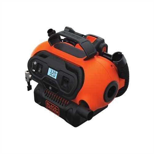 Black + Decker Multi-Purpose Inflator BDINF20C 20v Max System & 3 Power Sources (12VDC, 120VAC, 20V MAX battery options) (Bare Tool Only - No Battery - No Charger Included)