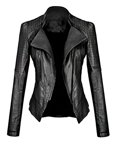 Oversized Motorcycle Jacket - 4