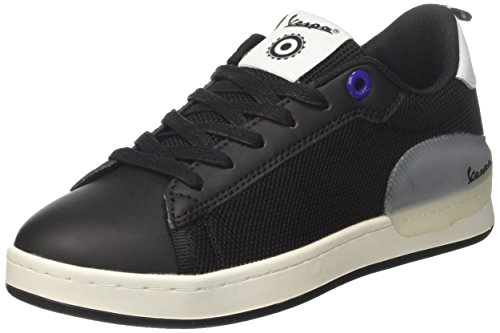 Vespa Unisex-Erwachsene Freccia Sneaker Nero (Nero)