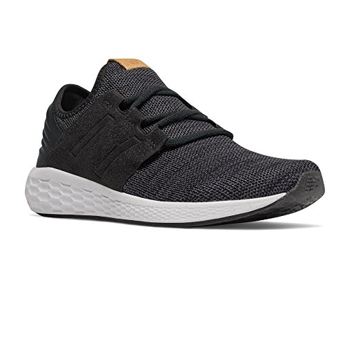 New Balance Men's Fresh Foam Cruz v2 Knit Black Magnet Running Shoe 11.5 Men US