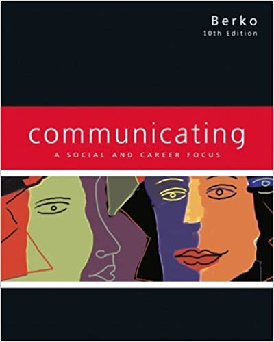 Book Communicating: A Social and Career Focus by Andrew D. Wolvin (2007-08-01)