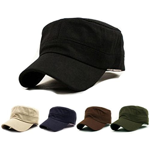 Baseball Hat,Haoricu 2017 Hot Sale!Fashion Unisex Classic Plain Vintage Military Style Adjustable Cap Hat