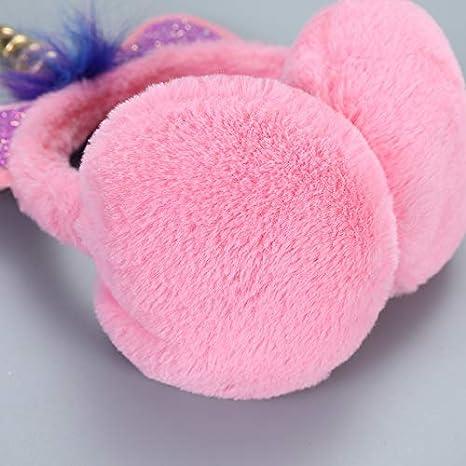 Bonnie-Sam Girls Unicorn Horn Earmuffs Soft ar Warmers Winter Ear Muffs