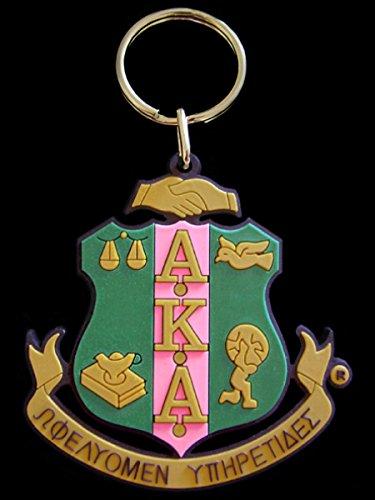 Alpha Kappa Alpha PVC Keychain (Kappa Alpha Key Ring)