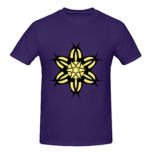 Floral Icon Vector Men Printed T Shirts O Neck Purple Diy