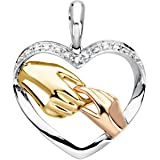 Tri-Color Tender Tender Years 14K Yellow/White/Rose Gold Pendant