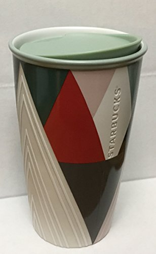 Holiday Traveler 12oz Double Wall Ceramic 2017 Trees by Starbucks
