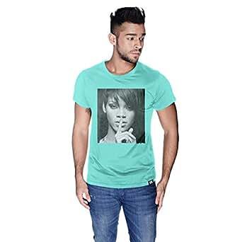 Creo Rihanna Celebrity T-Shirt For Men - M, Green