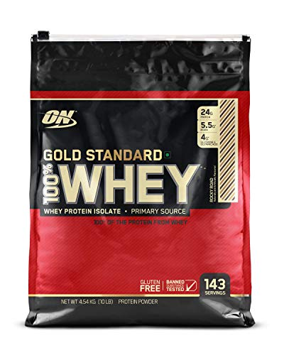 (OPTIMUM NUTRITION Gold Standard 100% Whey Protein Powder, Rocky Road, 10 Pound)