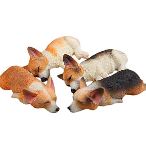 3D Funny Corgi Magnet Fridge Stickers, 4PCS Cute Animals Sleeping Corgi Magnetic Refrigerator Decoration Ornaments Toys Strong Fridge Magnets ()