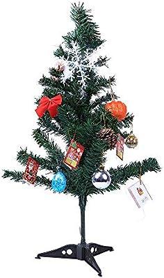 Qiusa Decoración de árboles de Navidad, Mini Adorno de sobremesa Decoración con LED Decoración de Navidad para el hogar Fiesta de Regalos Regalos Decoración ...