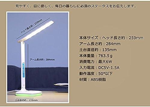 Remax Lampada Led Tavolo Scrivania Rl E270 Luci Mood Rgb Termometro Sveglia 6w 6 W Alluminio Amazon It Casa E Cucina