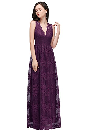 Babyonlinedress Floral Retro Lace Mother Of The Bridal Dress,Grape Purple,2