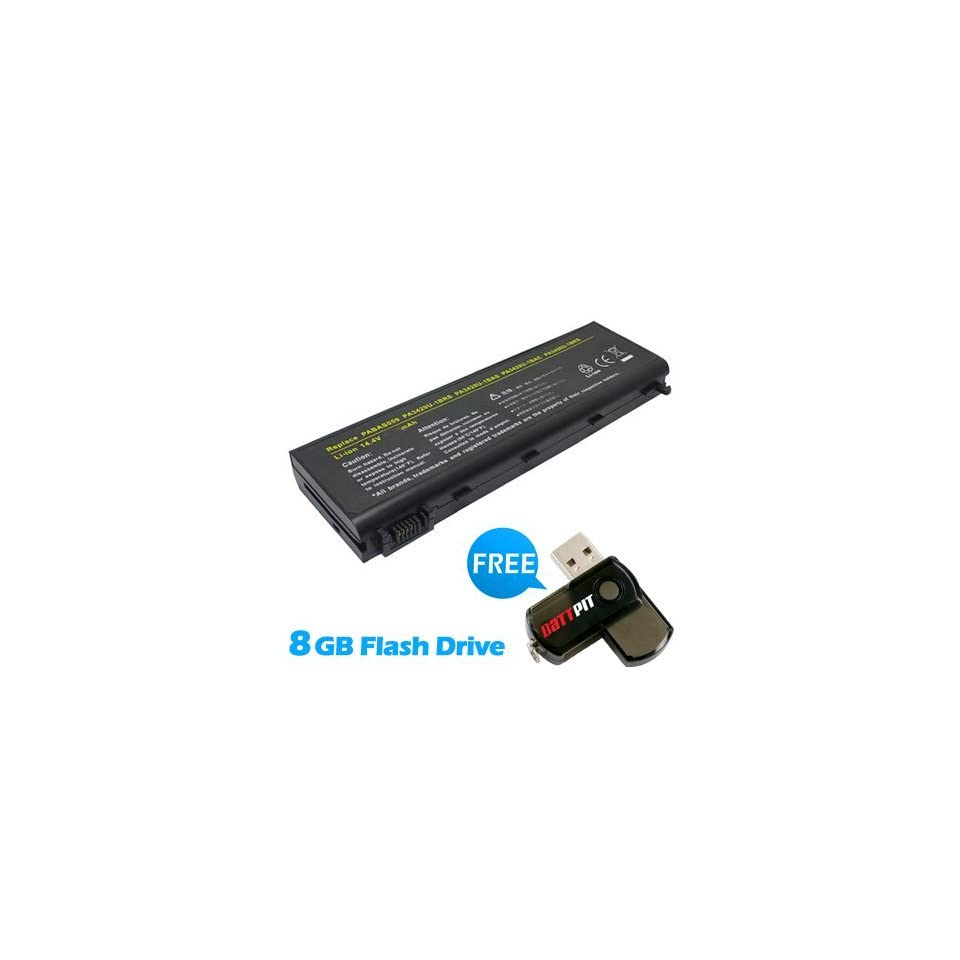 Battpit™ Laptop / Notebook Battery Replacement for Toshiba Satellite Pro L100 196 (4400 mAh) with FREE 8GB Battpit™ USB Flash Drive