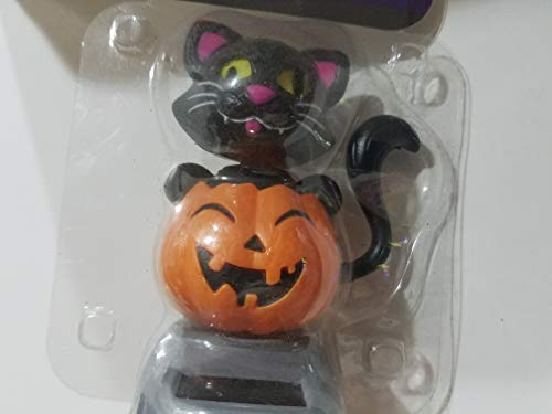 Rosella Halloween Black Cat in Pumpkin Solar Never End Dancing ()