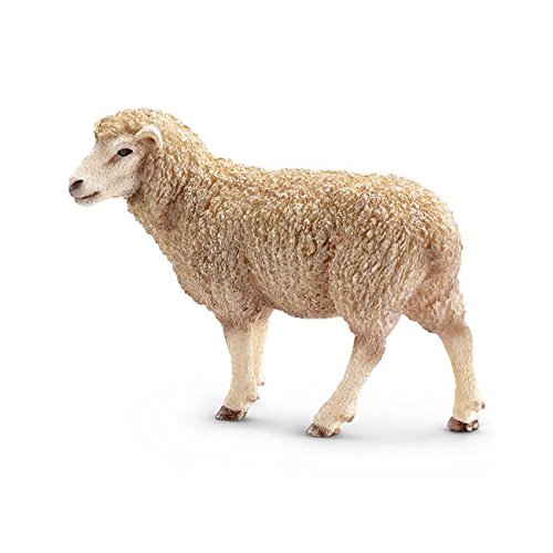 Schleich 13743 Sheep Figurine, White