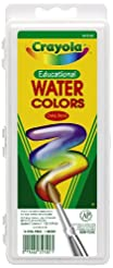 Crayola 16 Semi-Moist Oval Pans Watercol...