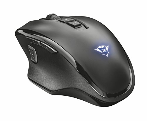9eede339447 Trust GXT 130 Wireless Gaming Mouse, 800-2400 DPI, 9 Buttons, Black ...