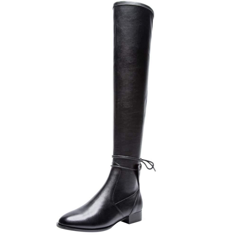 Miss Li Damen Overknee-Stiefel Sexy Long Stiefel Damenstiefel Herbst Und Winter Flache Ritterstiefel