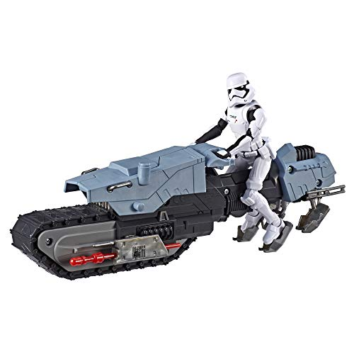 Star Wars Galaxy of Adventures First Order Driver & Treadspeeder 5 Scale Figure & Vehicle Toy 2 Pack with Fun Blaster Feature