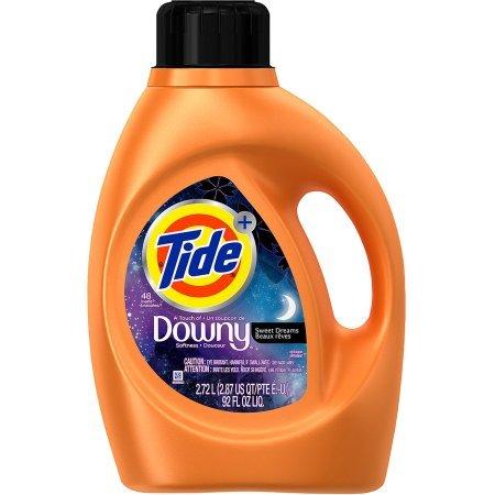 Tide Plus Downy Sweet Dreams Liquid Laundry Detergent 48 ...
