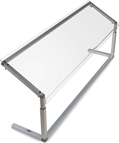 Carlisle 926007 Acrylic Adjustable Single Sided Sneeze Guard with Aluminum Frame, 60.25'' Length x 12.44'' Depth, Clear by Carlisle