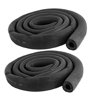 "uxcell 2 Pcs Foam Hose 5/8"" x 3/8"" Air Conditioner Heat Insulation Pipe Black"