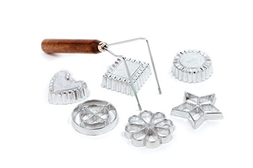 Swedish Rosette Cookie & Timbale Pastry 7 Pc