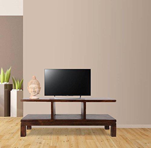WoodWingss Calai 52  Solid Wood TV Unit  Finish: Teak