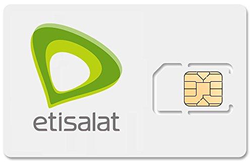 UAE United Arab Emirates Mobile Phone SIM Card, £4 99/day