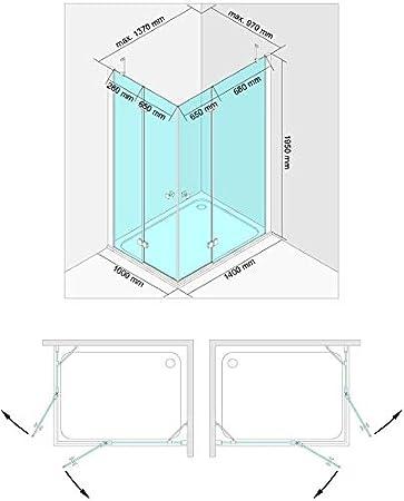 Cadena de esquina. cabinas de ducha con Nano revestimiento de ...