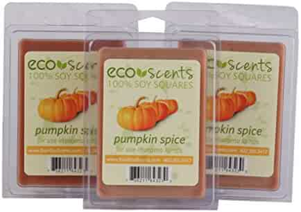 EcoScents Pumpkin Spice Wax Melts (3 Pack), Brown