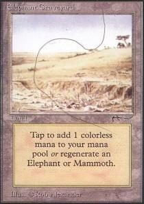 Magic: the Gathering - Elephant Graveyard - Arabian Nights
