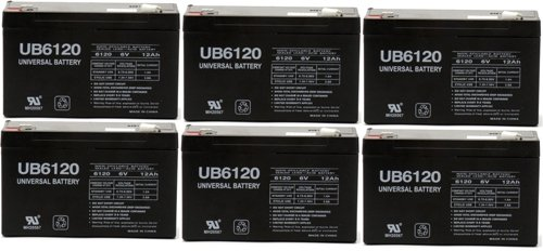 UPC 609408606557, 6V 12Ah F1 Lithonia ELB-0610 Replacement Rhino Battery - 6 Pack