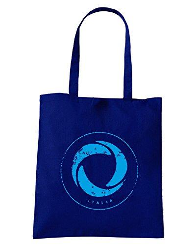 T-Shirtshock - Bolsa para la compra WC0422 ITALY T-SHIRT - ITALIA ICON Azul Marino