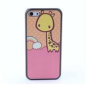 ZXM- caso trasero protector del arco iris y la jirafa estilo para 5c iphone