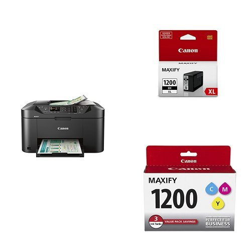 Canon Wireless Color Photo Printer with Scanner, Copier and Fax + Black Pigment Ink Tank + 3Color Multi Pack Ink