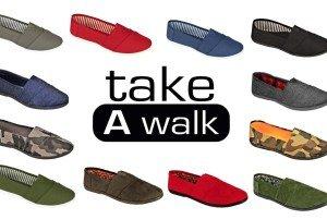 Machen Sie einen Spaziergang Canvas Slip-On für Frauen Marine (Leinwand)