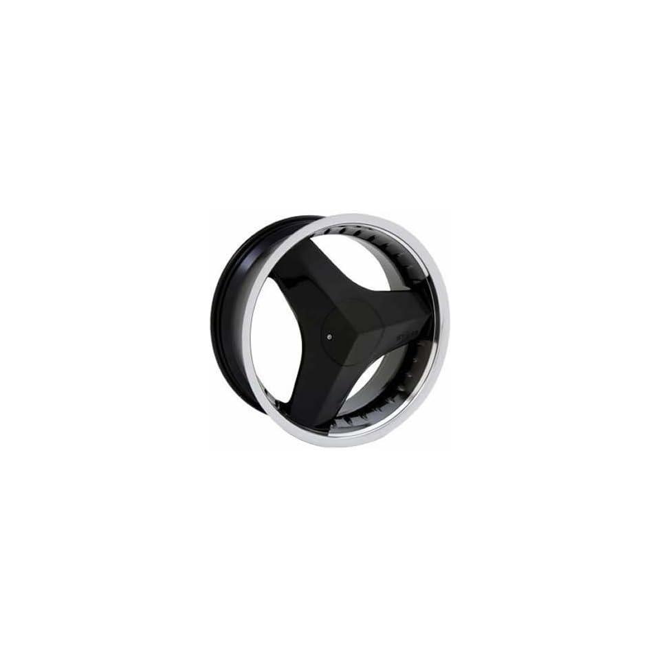 Starr Killa 22 Machined Black Wheel / Rim 5x112 & 5x4.5 with a 34mm Offset and a 73.1 Hub Bore. Partnumber SWG35722845+34MIB 73.1