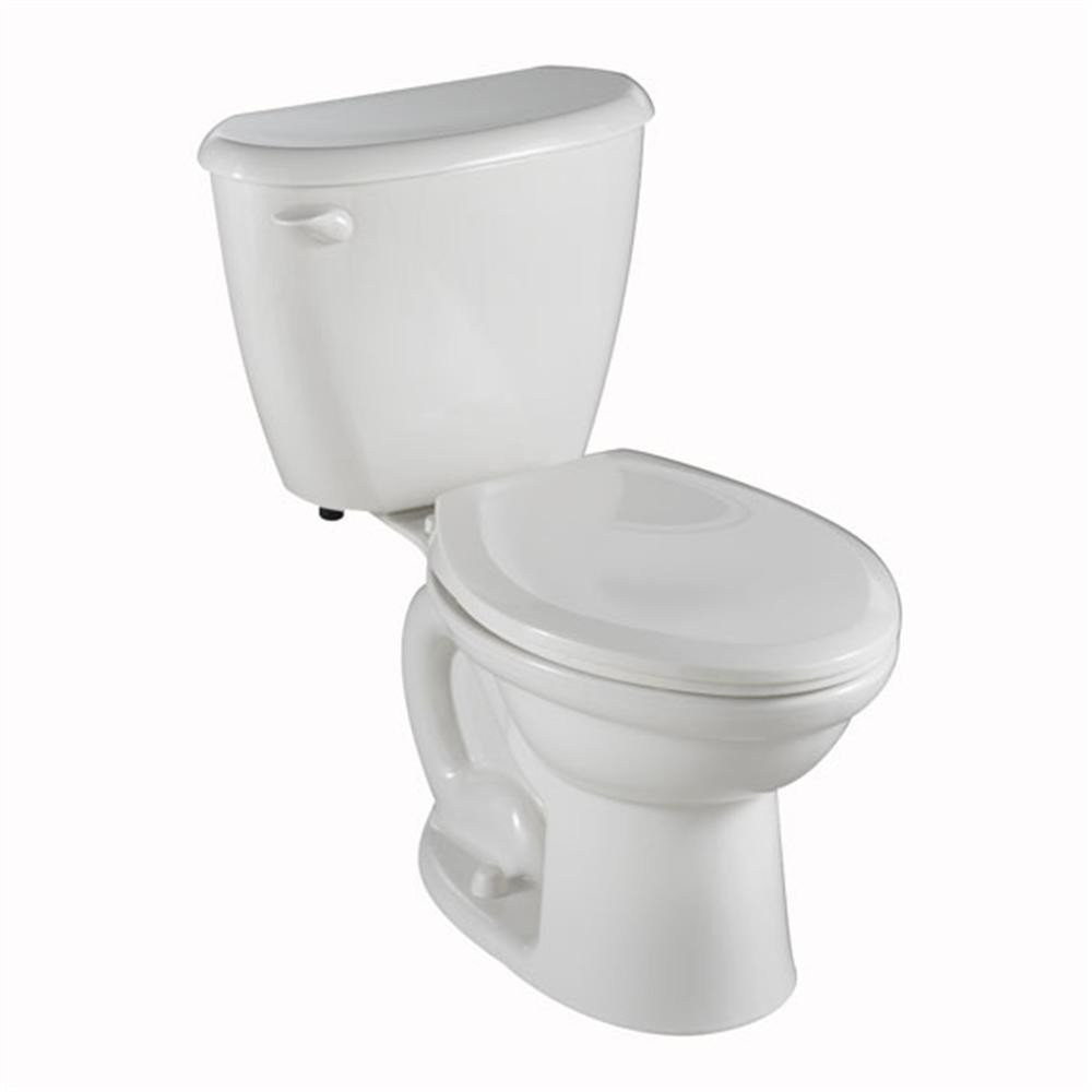 American Standard 2487.010.020 Colony FitRight Right Height Elongated Toilet with 10-Inch Rough-In, White