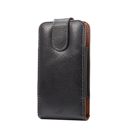 Lordwey® Funda Universal Phone Belt Pouch Case, Vertical Cinturón de cuero auténtico clip de la caja para el Samsung S7/Huawei P9/Xiaomi Redmi 4
