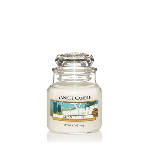 Yankee Candle Small Jar Candle, Clean Cotton Clean Cotton Jar Candle