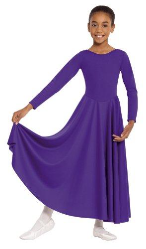 Eurotard  13524 Child Dance Dress (Black, Large) -
